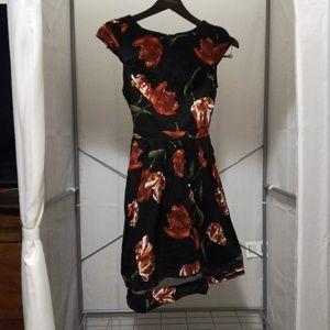 Floral Print Midi Dress by Dorothy Perkins
